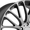 KMC KM693 MAZE Satin Black with Machined Face and Tinted Clear Coat, фото 2