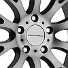 KMC KM693 MAZE Satin Black with Machined Face and Tinted Clear Coat, фото 3