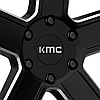 KMC KM702 DUECE Satin Black with Milled Accents, фото 3