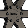 KMC KM704 Satin Black with Machined Face and Tinted Clear Coat, фото 3