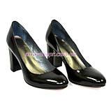 """Женские черные лаковые классические туфли на каблуке. ТМ """"Maestro"""", фото 3"""