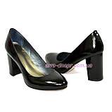 """Женские черные лаковые классические туфли на каблуке. ТМ """"Maestro"""", фото 4"""