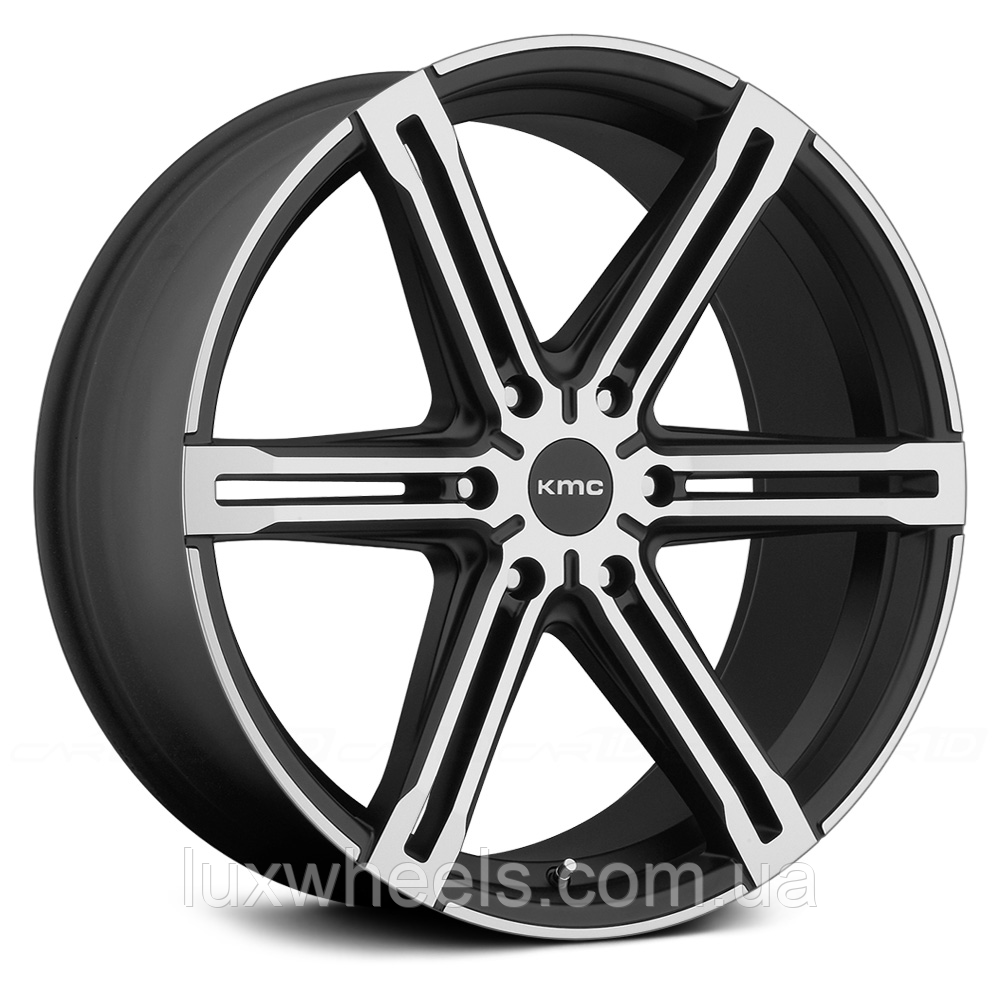 KMC KM686 FACTION Satin Black with Machined Face