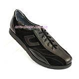 """Женские кроссовки на шнуровке, комбинированные - натуральная кожа и замш черного цвета. ТМ """"Maestro"""", фото 3"""