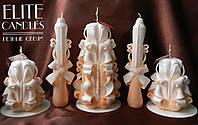 Набор резных свечей на подарок к 14 февраля, 8 марта, день рождению, свадьбе