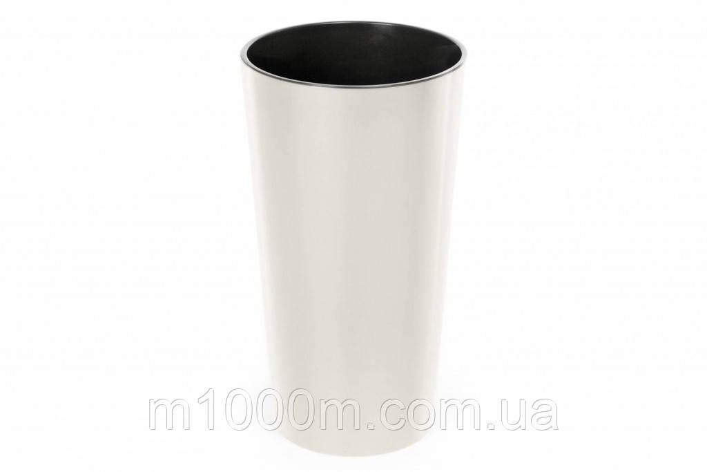 Горшок пластмассовый с вкладом Лилия 14см