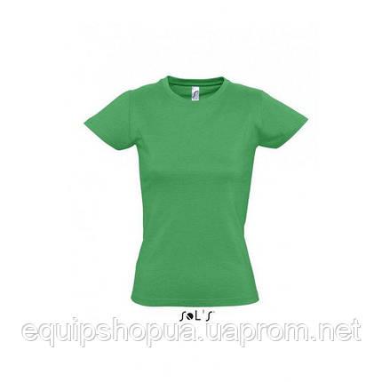 Футболка женская с круглым воротом SOL'S IMPERIAL WOMEN-11502 Зелёный, xxl, фото 2