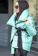 Куртка женская демисезонная Сильвер мята, короткая куртка осень, весна, дропшиппинг