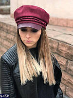 Женская кепка бархатная
