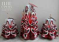 Свечи резные, ручная работа, расцветка от Elite Candles