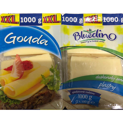 Сыр нарезной Гауда Bluedino Gouda 500g, фото 2