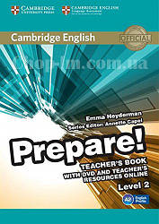 Cambridge English Prepare! 2 Teacher's Book with DVD and Teacher's Resources Online / Книга для учителя
