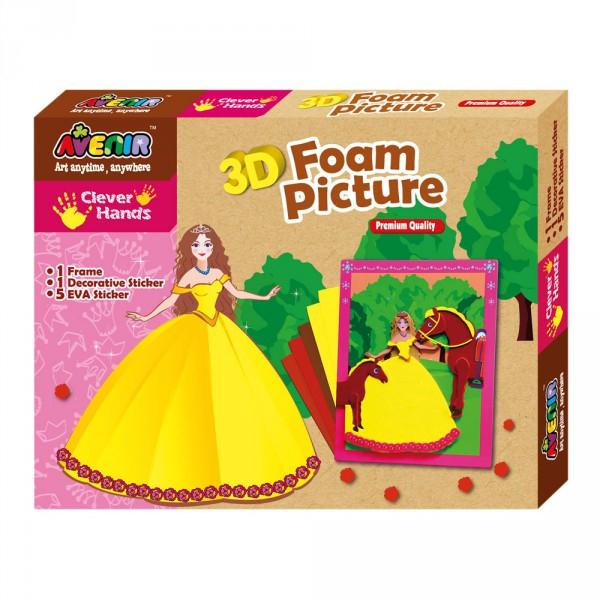 Набор для творчества 3D картинки из пены Принцесса BINO