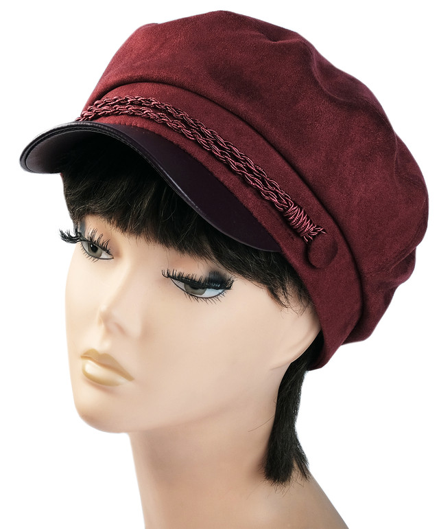 Женская кепка Симона замша