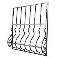 Металлические оконные решетки с кованными элементами | Решетки на окна, балкон, двери по цене от производителя