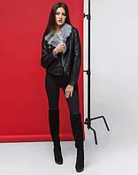 11 Kiro Tokao | Демисезонная женская куртка 4575 черный-серый