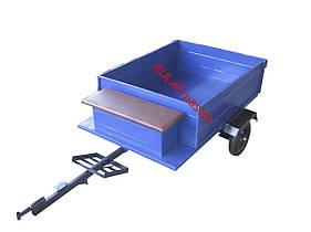 Прицеп для мотоблока (1,05 х 1,3) самосвал в комплекте с колесами