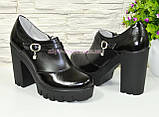 Туфли женские на тракторной подошве, натуральная кожа и лаковые кожа., фото 4
