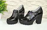 Туфли женские на тракторной подошве, натуральная кожа и лаковые кожа., фото 5