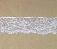 Кружево белое синтетическое  50 мм, фото 1