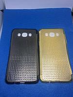Samsung J5(2016) Силикон с перламутровым отливом жёлтый