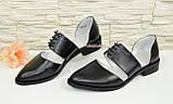 Стильные женские кожаные туфли на низком ходу, фото 3