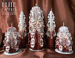 Набір різьблених свічок, подарунок ручної роботи, красиво горять і виглядають