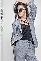 "Брючный костюм ""Флоренс"" (пиджак без застежки с драпировкой на рукавах и брюки с карманами), фото 1"