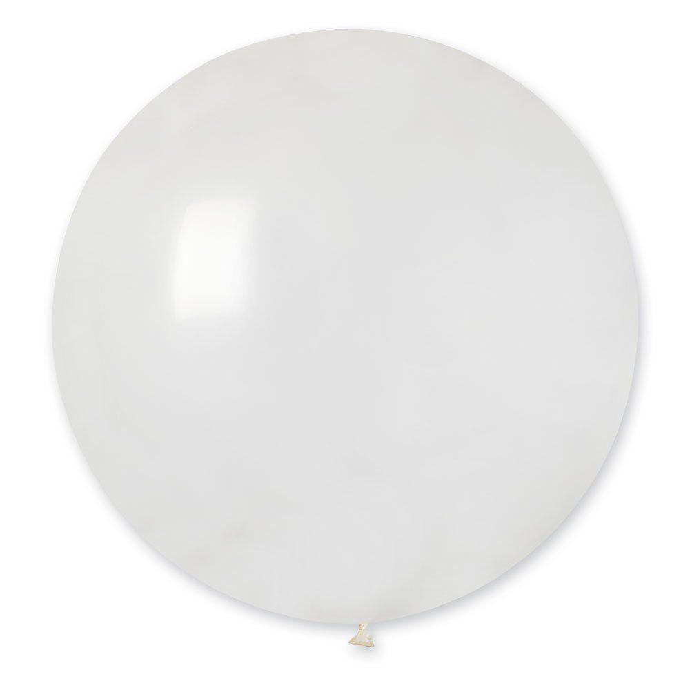 Повітряні кулі латексні G220_00 Gemar Італія, колір: кристал прозорий, Діаметр 31 дюйм/80 см, 25 штук