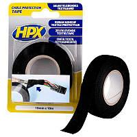 Текстильная лента для защиты кабеля (анти-скрип), черная 19 мм x 10 м