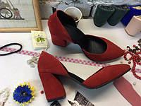 Туфли женские натуральная замша