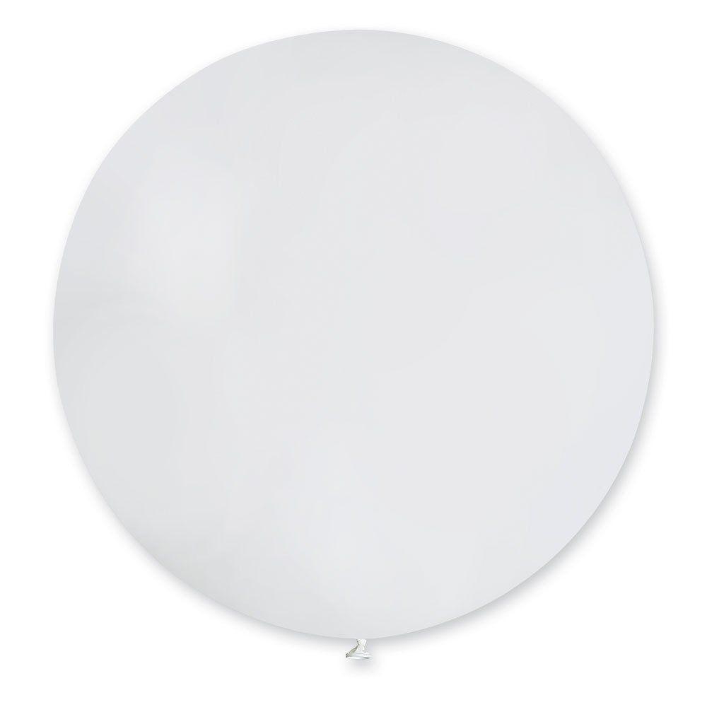 Повітряні кулі латексні G220_01 Gemar Італія, колір: пастель білий, Діаметр 31 дюйм/80 см, 25 штук в упа