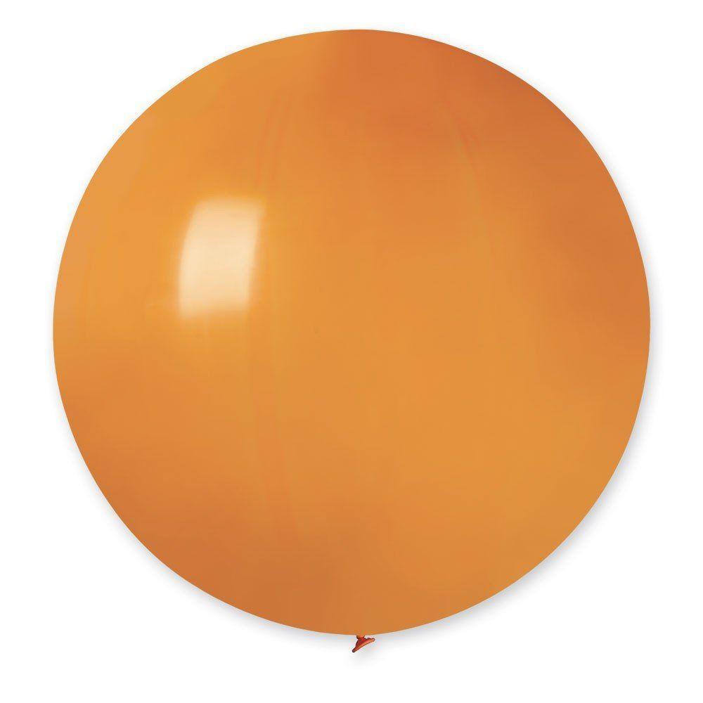 Повітряні кулі латексні G220_04 Gemar Італія, колір: пастель помаранчевий, Діаметр 31 дюйм/80 см, 1 штука