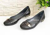 """Туфли женские кожаные черного цвета  на низком ходу. ТМ """"Maestro"""", фото 4"""