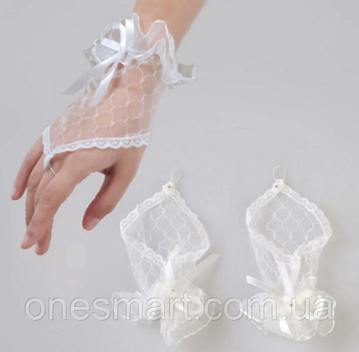 Ажурные перчатки белые
