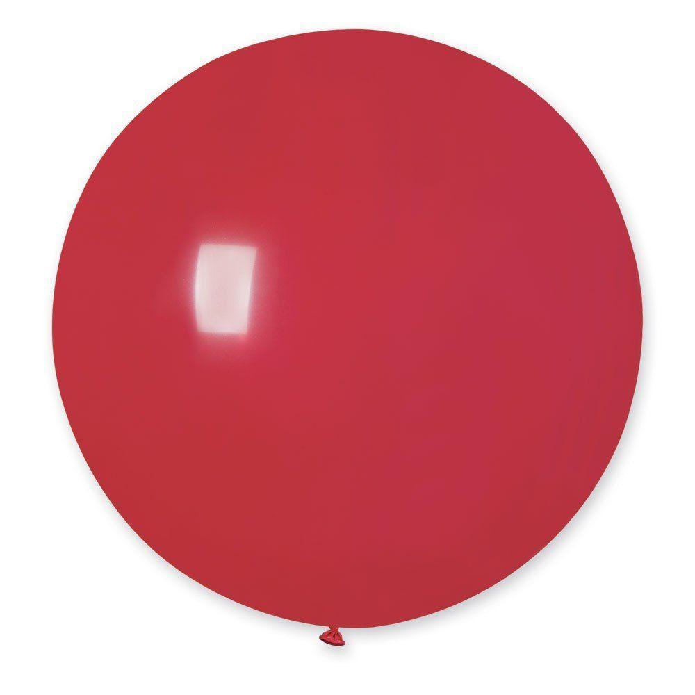 Повітряні кулі латексні G220_05 Gemar Італія, колір: пастель червоний, Діаметр 31 дюйм/80 см, 1 штука