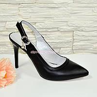 Стильные туфли женские на шпильке, натуральная кожа