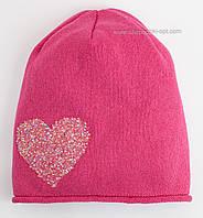 Малиновая шапочка Сердце с аппликацией из страз