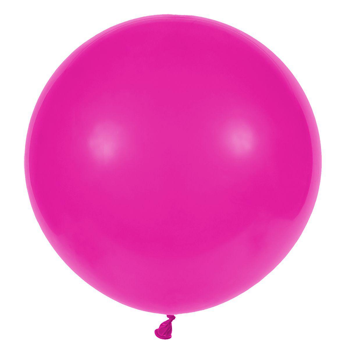 Латексные воздушные шары G220_07 Gemar Италия, расцветка: пастель фукция малиновый, Диаметр 31 дюйм/80 см, 25