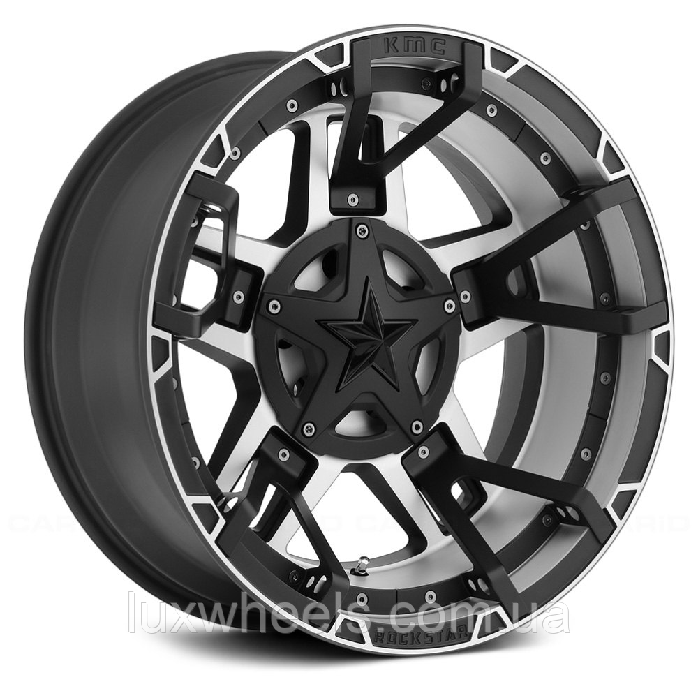KMC XD SERIES XD827 ROCKSTAR 3 Matte Black with Machined Face