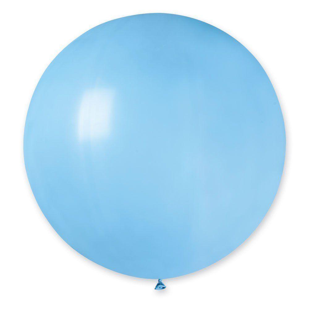 Латексные воздушные шары G220_09 Gemar Италия, расцветка: пастель голубой, Диаметр 31 дюйм/80 см, 25 штук в уп