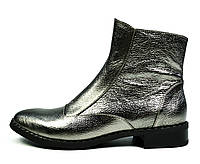 Серебристые осенние женские кожаные ботинки ARI ANDANO на байке