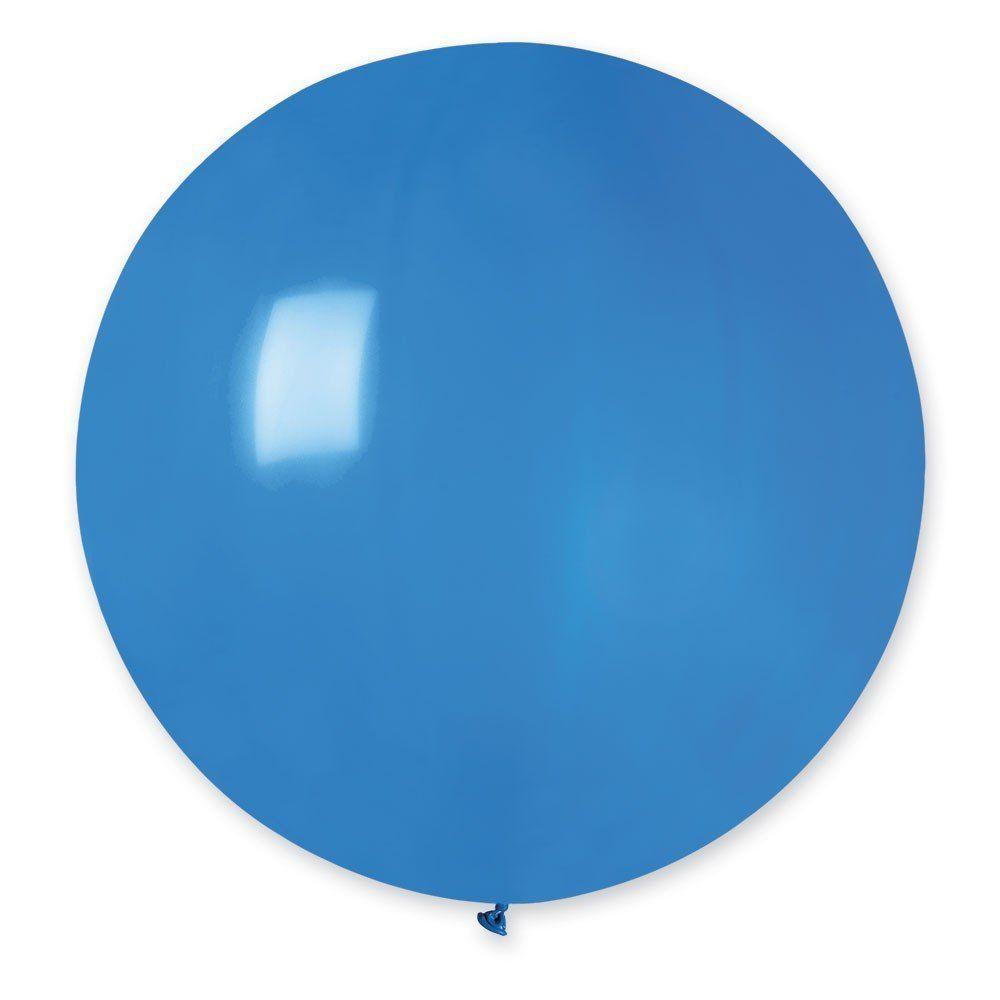 Повітряні кулі латексні G220_10 Gemar Італія, колір: пастель блакитний, Діаметр 31 дюйм/80 см, 1 штука