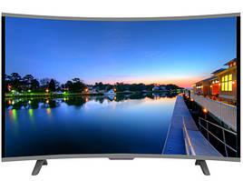 """Удобный и практичный телевизор JPE 32"""". Изогнутый HD экран T2, USB, HDMI, VGA. Высокое качество. Код: КДН3017"""