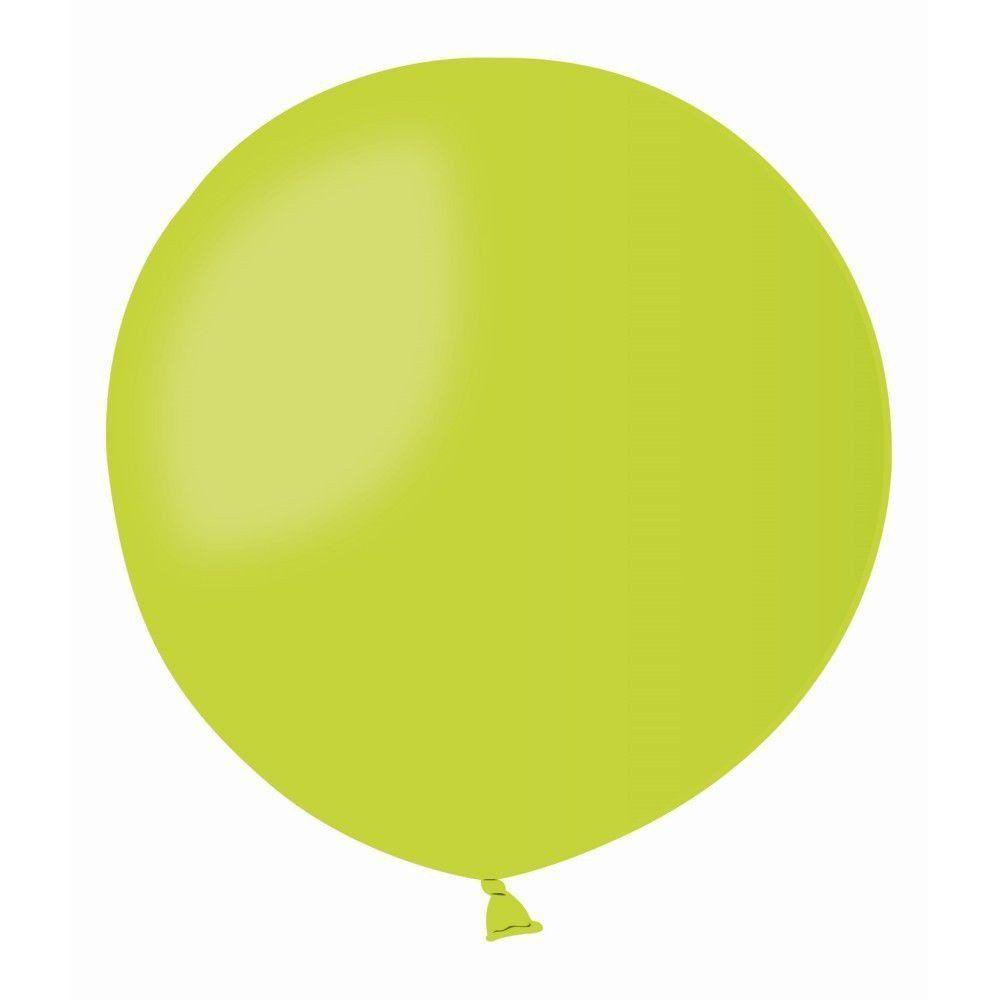 Повітряні кулі латексні G220_11 Gemar Італія, колір: пастель салатовий, Діаметр 31 дюйм/80 см, 1 штука