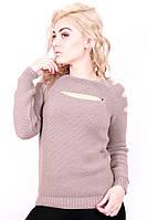 Стильный женский свитер. Капучино, фото 1