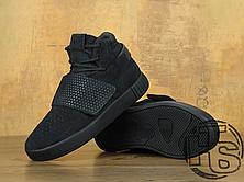 Женские кроссовки реплика Adidas Originals Tubular Invader Strap Triple Black BB1169, фото 3