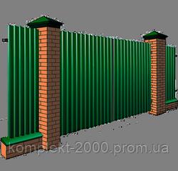 Заборы из профнастила для дачи 1,5 х 2,5 | Забор для дачи из профнастила - Цена от производителя