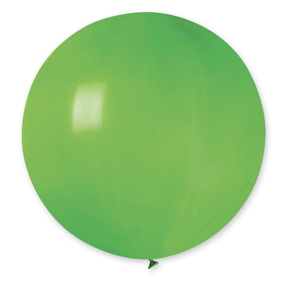 Повітряні кулі латексні G220_12 Gemar Італія, колір: пастель зелений, Діаметр 31 дюйм/80 см, 1 штука