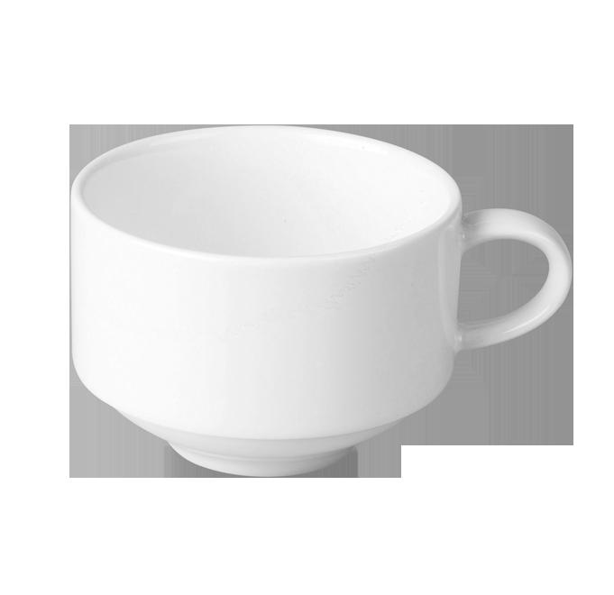 Чашка 180 мл. фарфоровая, белая Lyra, RAK
